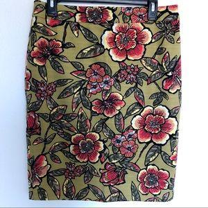 Ann Taylor loft floral skirt size 8